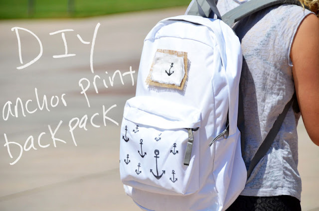 DIY Anchor Print Backpack from Mr. Kate