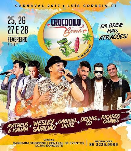 Bloco Crocodilo Beach 2017 em Luís Correia - PI