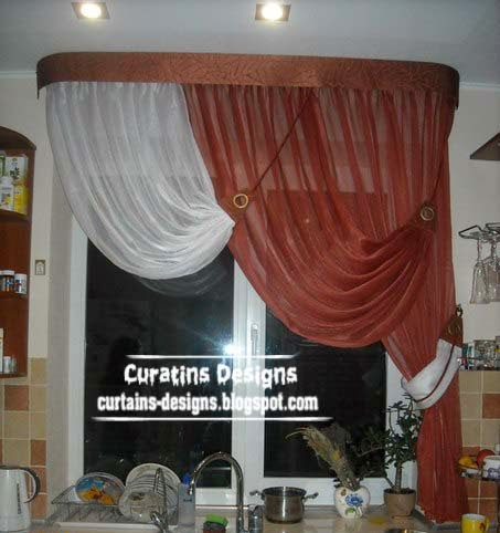 Unique curtain designs for kitchen windows kitchen for Designs of kitchen curtains
