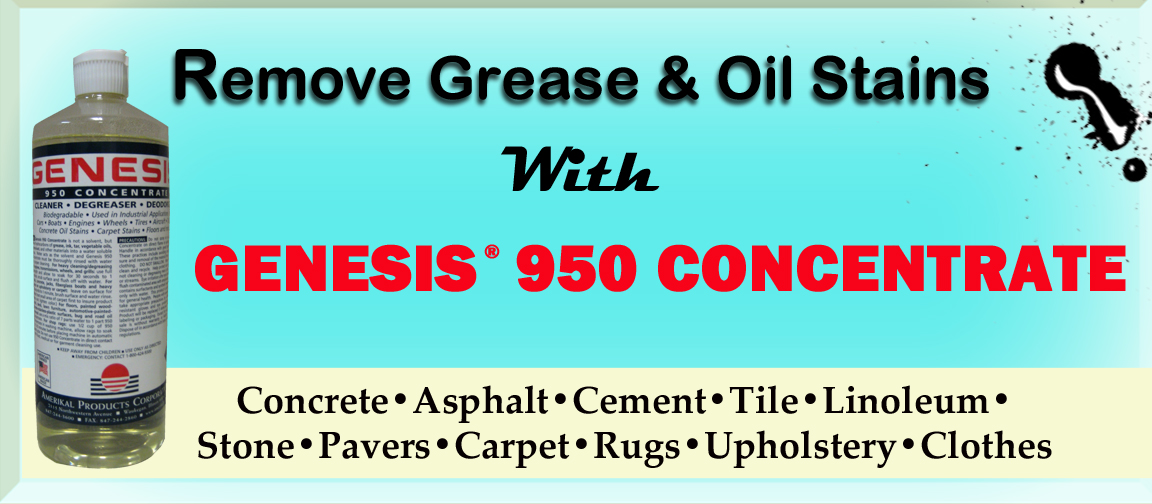 Genesis 950 cleaning tips and tricks remove grease oil for Remove oil from garage floor
