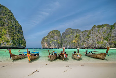 Maya Bay - Koh Phi Phi en Tailandia (Lugares Tursticos) by Souvik Bhattacharya