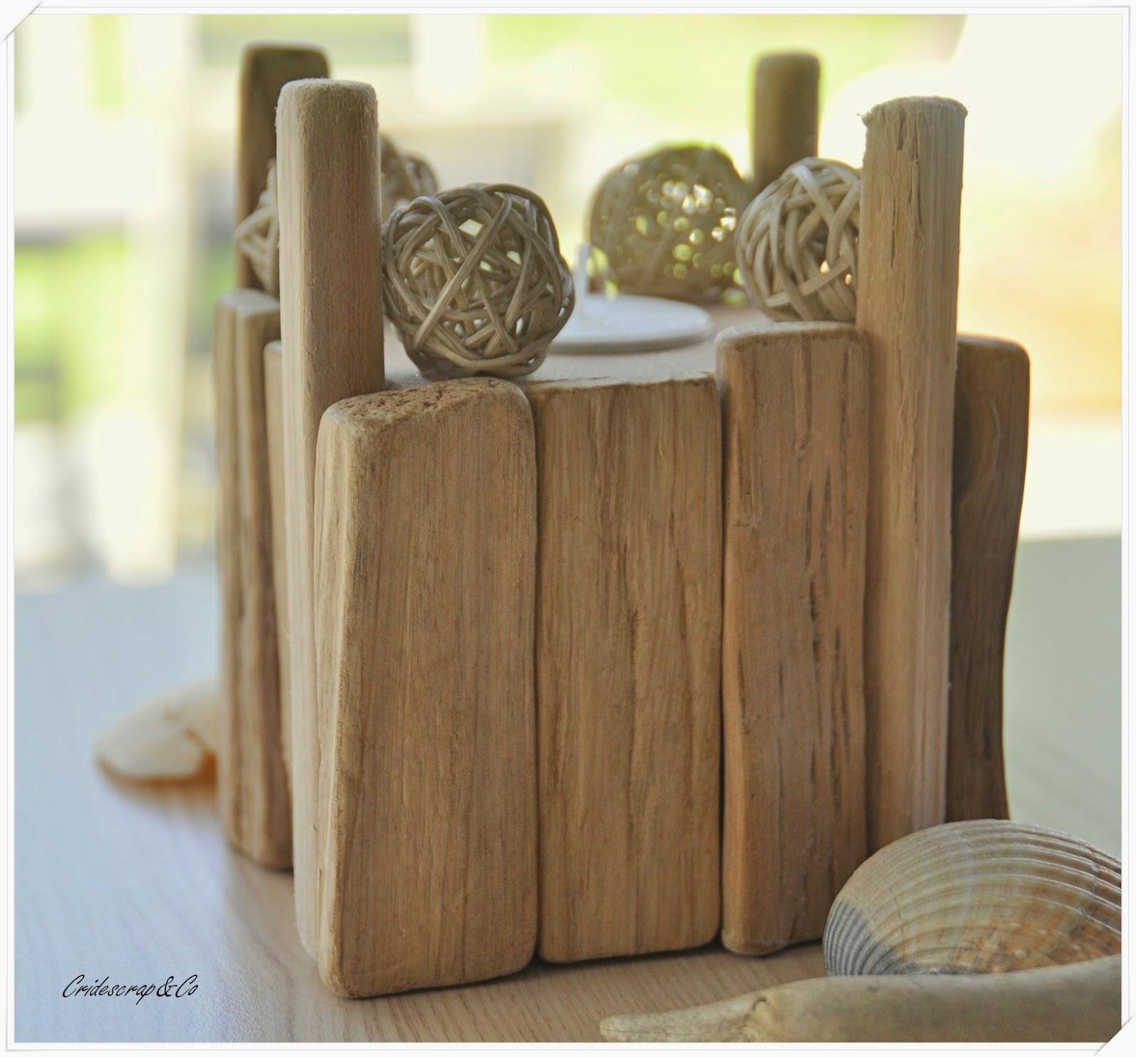 La boutique deco de cridescrap co porte bougie en bois flott for Porte bougie bois flotte
