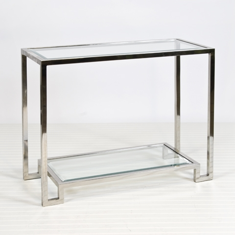 Worlds Away Lyle Nickel Plated Console