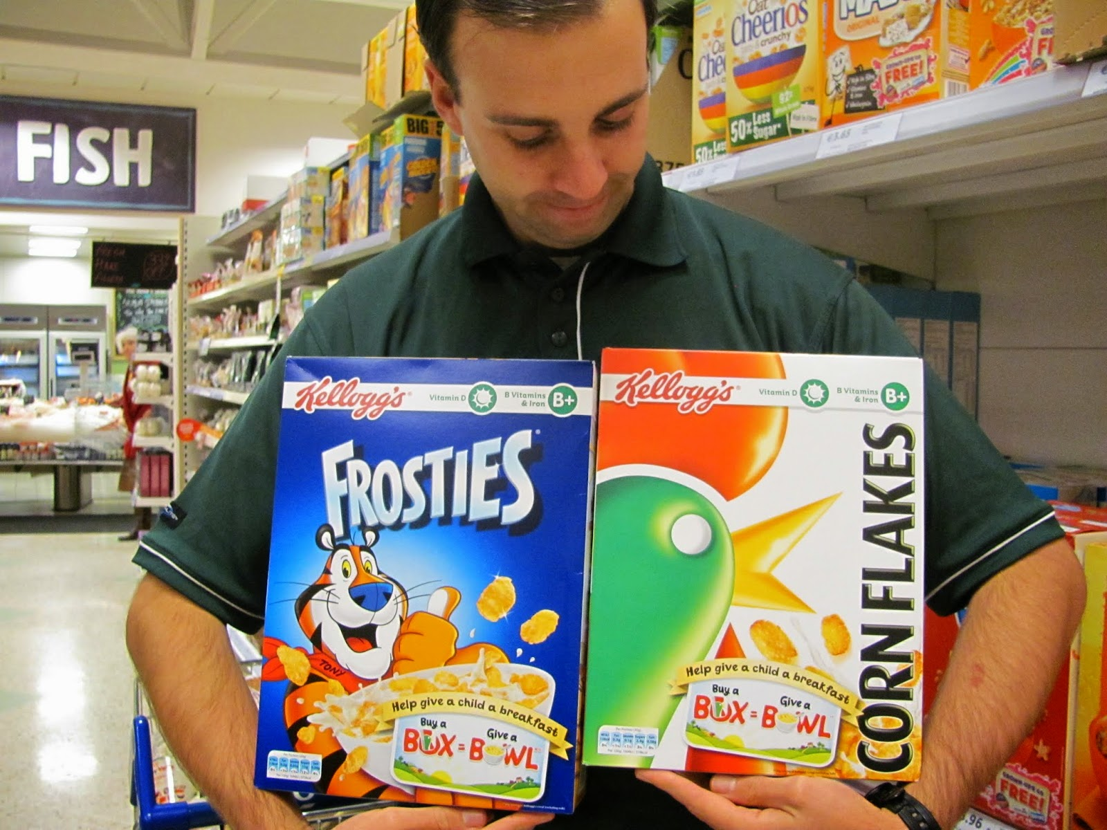 Frosties and Corn Flakes
