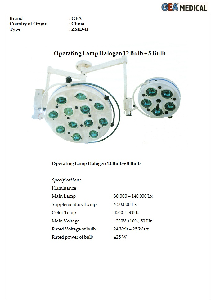 Led Ceiling Operating Light Gea ZMD-II