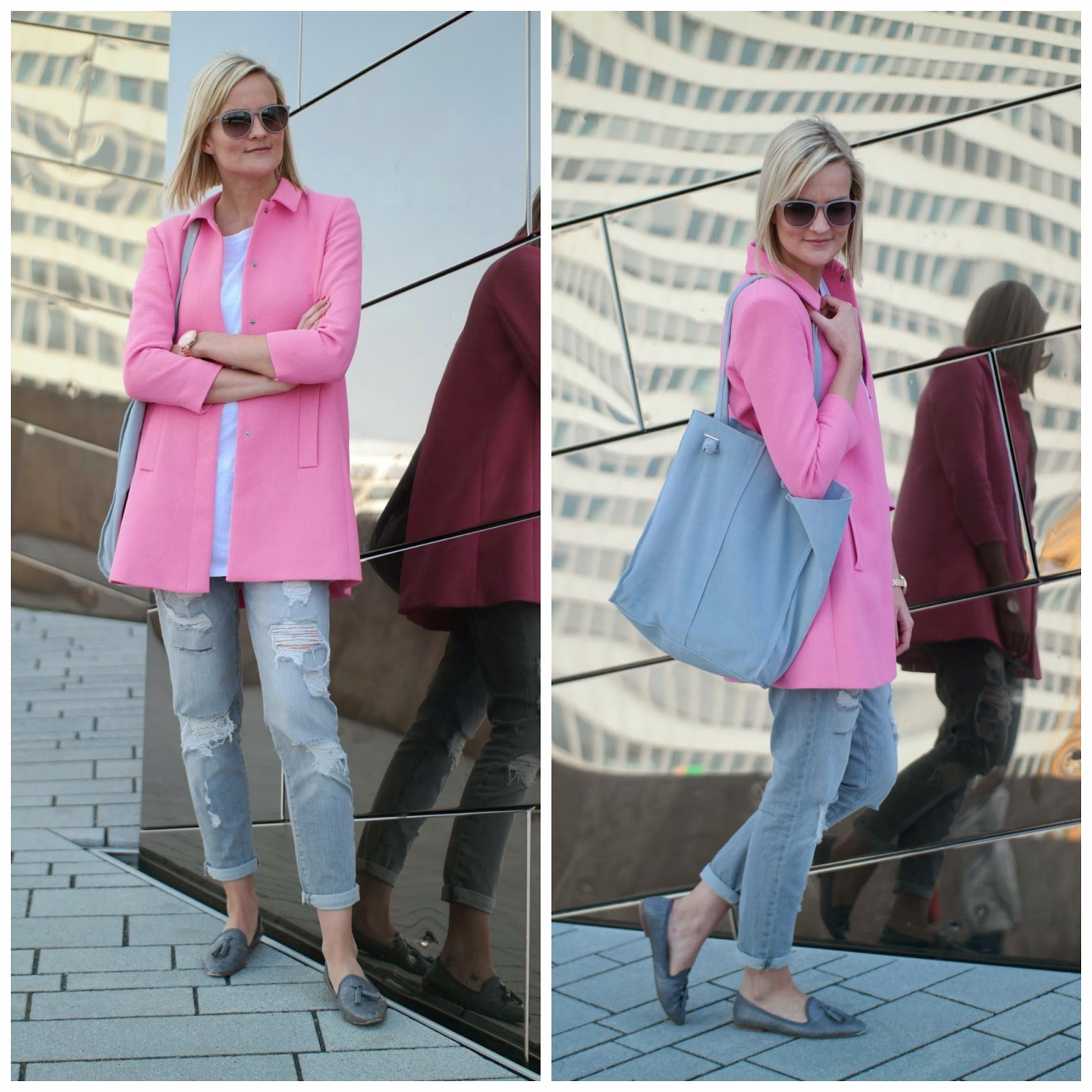 Mantel pink zara