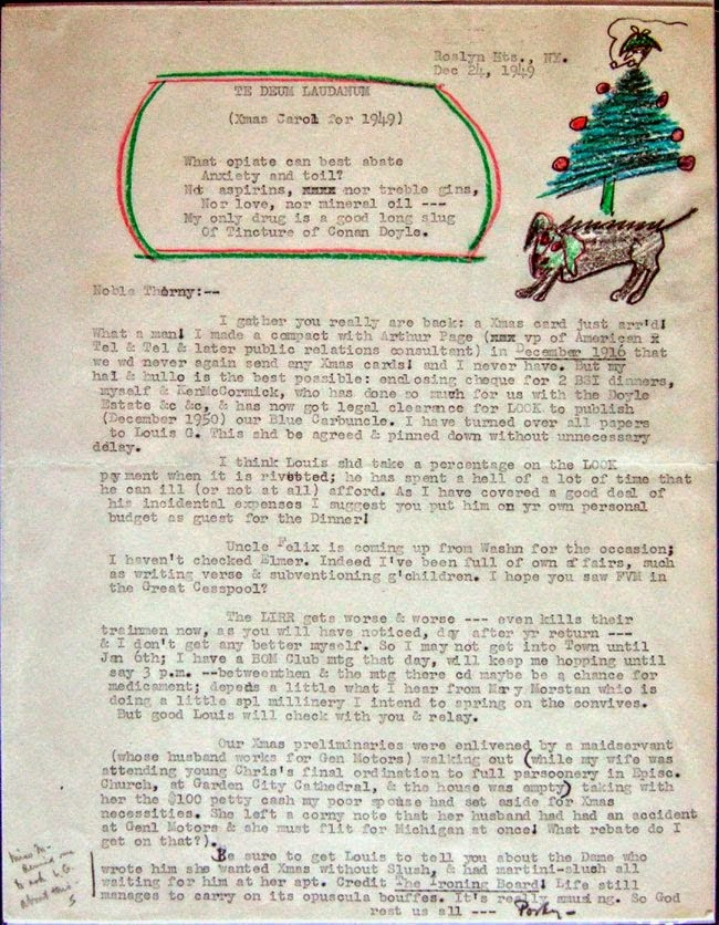 Letter, Morley to Smith, December 24, 1949