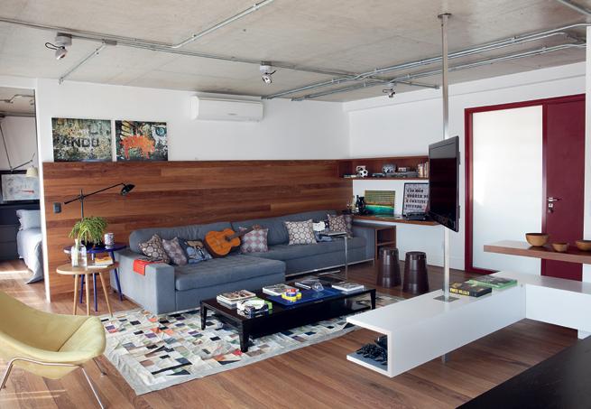 Sala De Tv Sofá Cinza ~ Sofá de cara nova