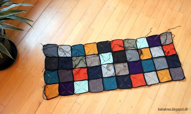 hæklede lapper heæklet tæppe firkanter