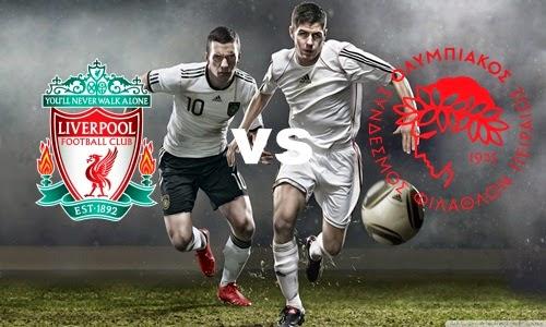 Prediksi Skor Terjitu Liverpool vs Olympiakos jadwal 28 Juli 2014