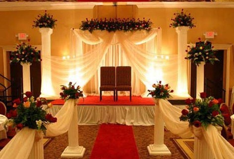Bridals and Grooms Point: Pakistani marriage stage flower