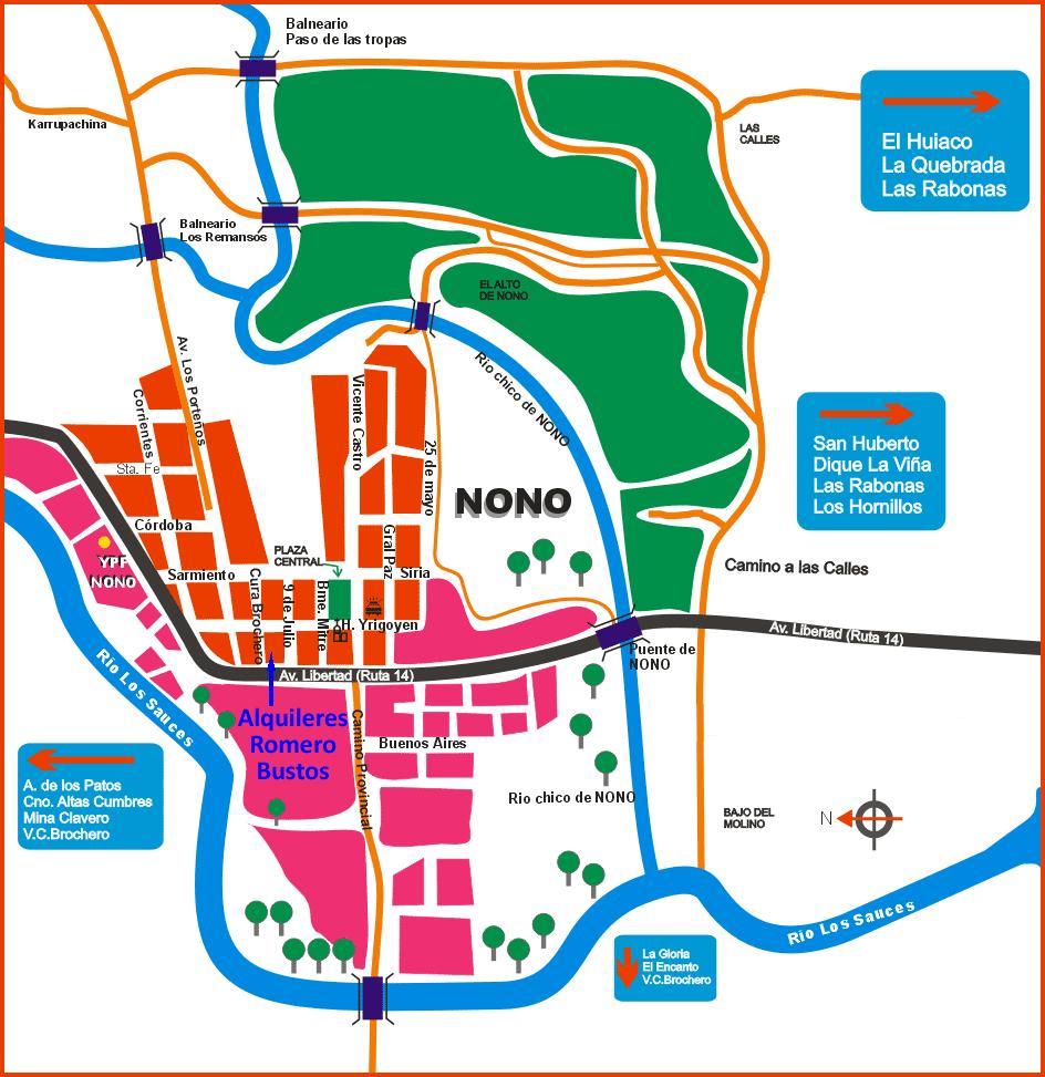 Como llegar a Nono