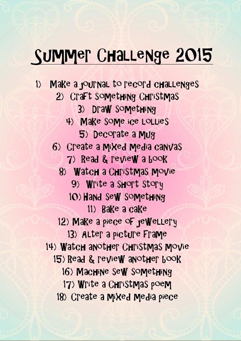 My Summer Challenge!