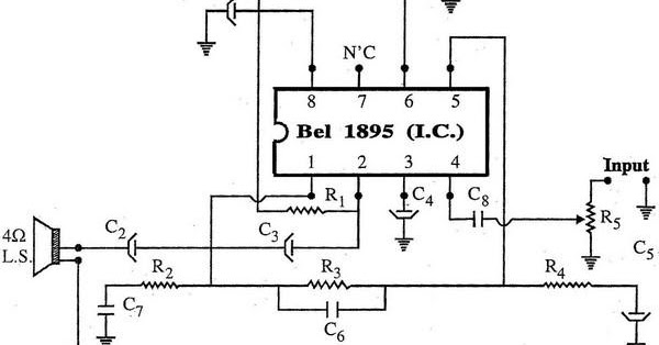 using bel1895 i c amplifier circuit diagram