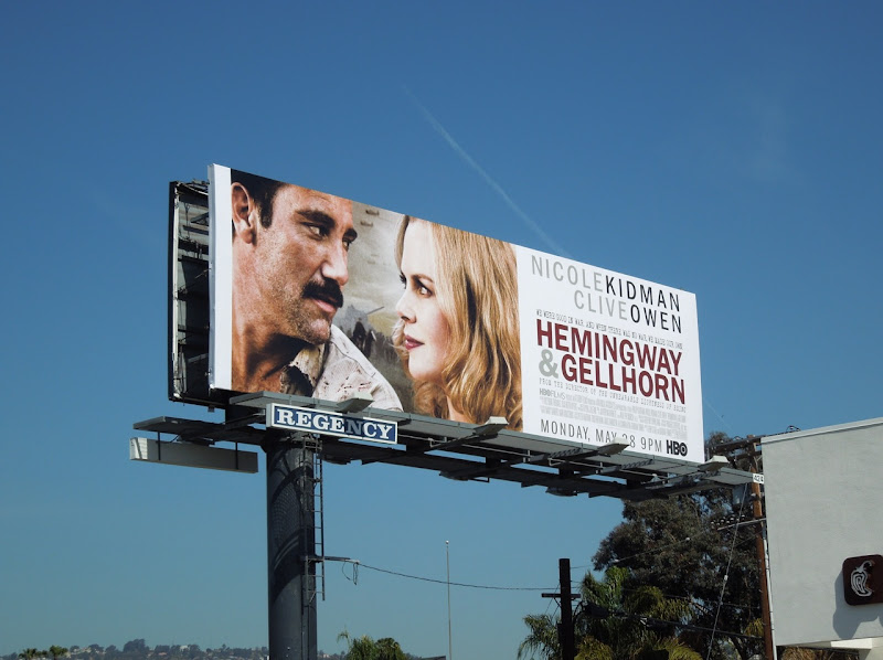 Hemingway Gellhorn HBO movie billboard