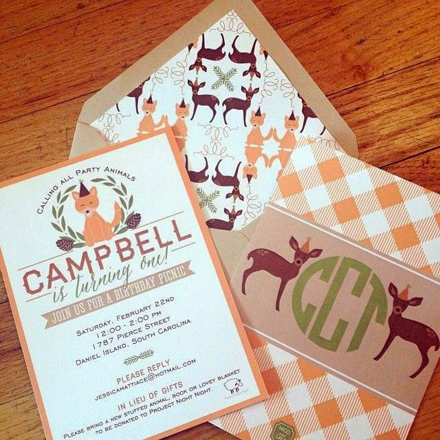 Campbell's Woodland Critter First Birthday