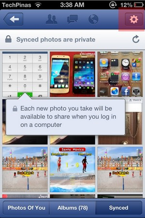mi4 how to turn off photo sync
