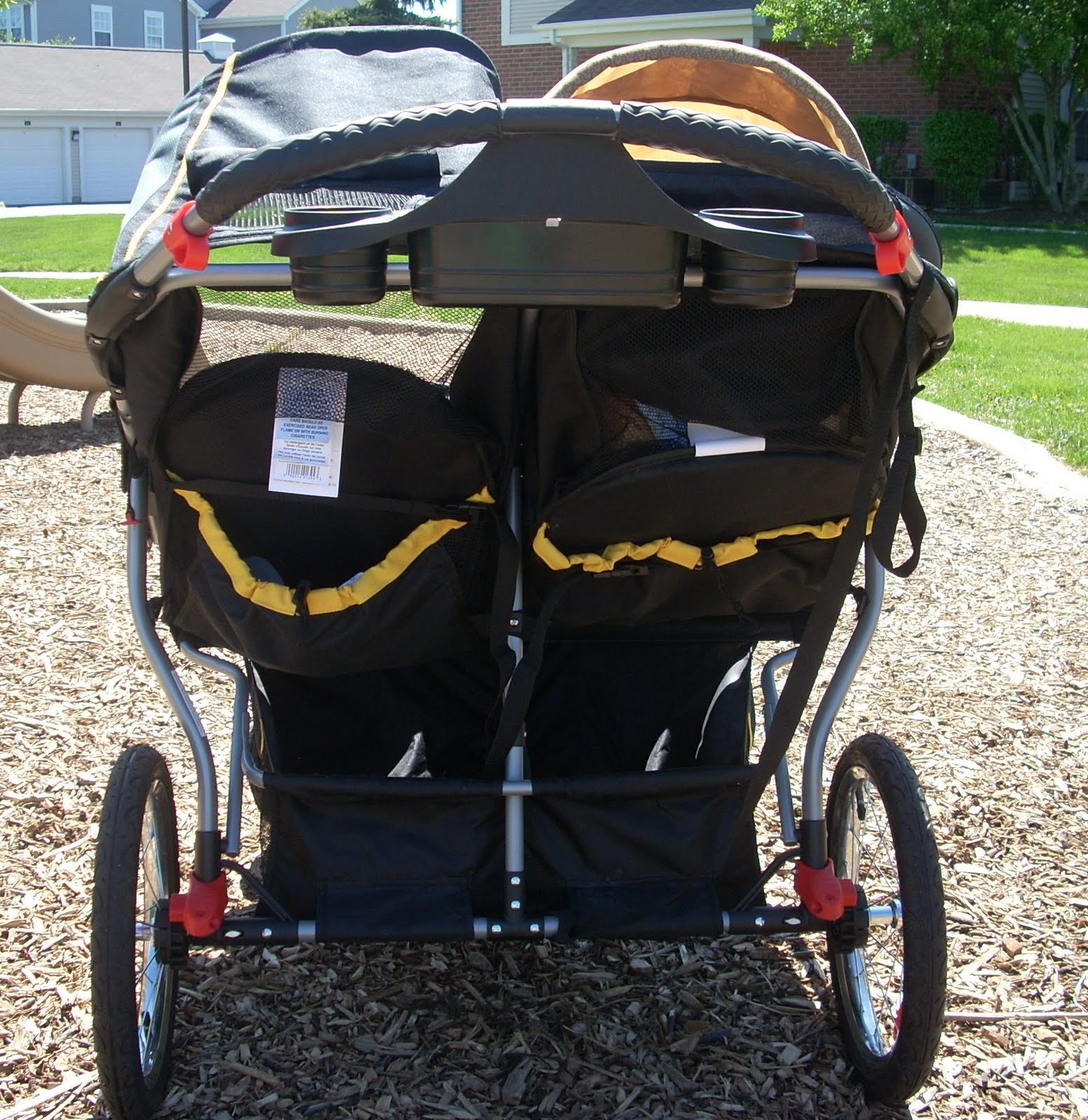 Mom Mart Product Review Baby Trend Navigator Double Jogger Stroller in Sonic