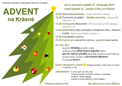 Advent na Krásné 2011 - plakát