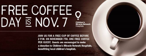Bruegger's Bagels: FREE Cup of Coffee on 11/7
