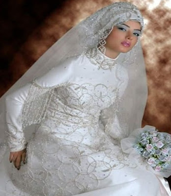 Muslim Wedding Dresses on Pretty White Muslim Wedding Dress Styles Muslimah Wedding Dress Styles