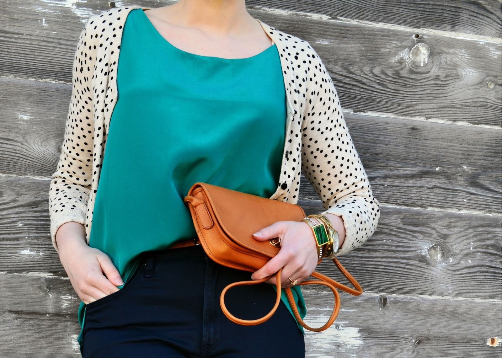 look of the day, silk, vintage coach, catie beatty, fleur d'elise, outfit details,