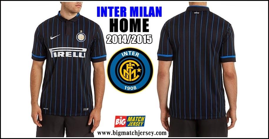 Jersey Club Terbaru Inter Milan Home Official 2014-2015
