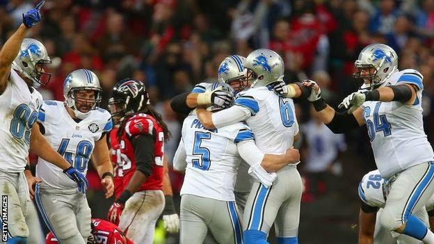 Detroit Lions beat Atlanta Falcons 22-21 at Wembley