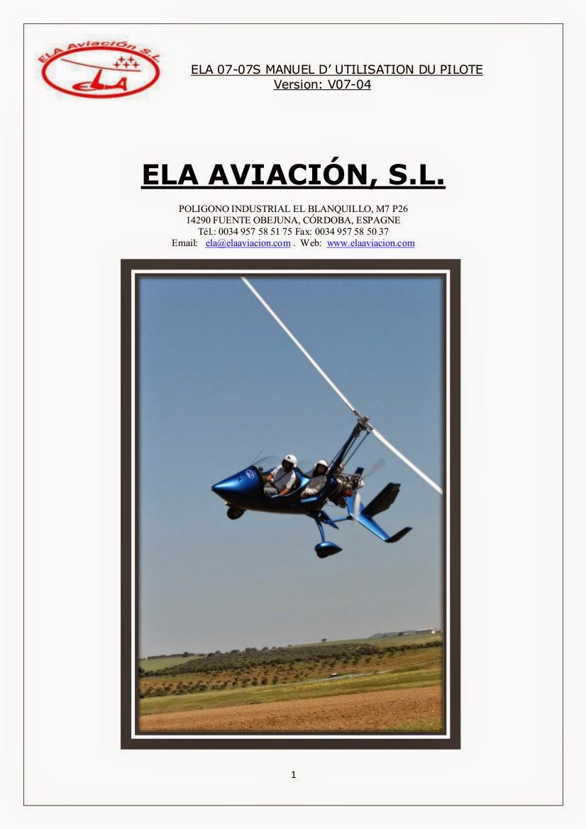 Manuel de vol ELA 07 Cougar