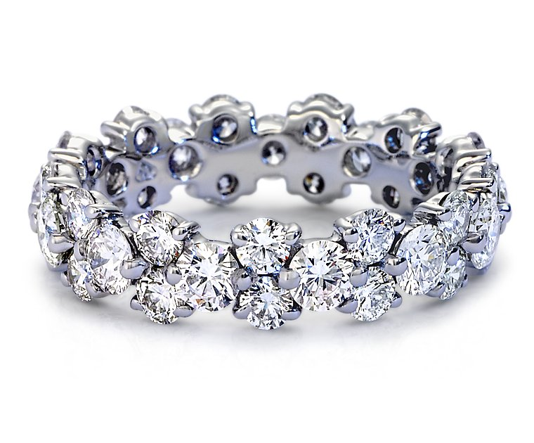 9mm Tungsten Carbide Wedding Bands 94 Elegant Garland Diamond Eternity Ring