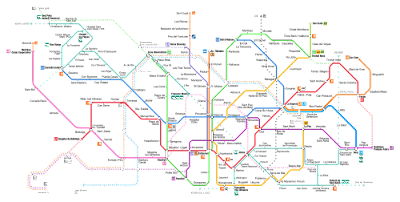 Barcelona Metro Map images 3