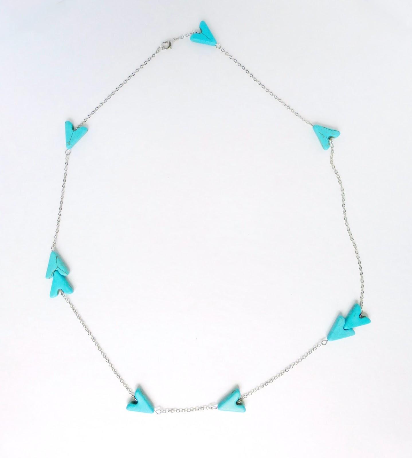beaded chain arrow necklace tutorial
