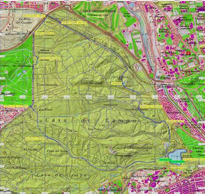 Grupo m gico de senderismo mi rcoles con antonio - Mapa de la casa de campo ...