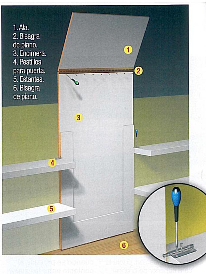 Carpinter a mesa de comedor abatible disimulada en la pared - Camas pegadas ala pared ...