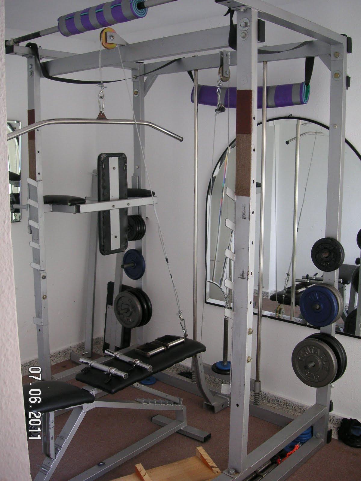 Gimnasio completo en casa detalles - Maquinas para gimnasio en casa ...