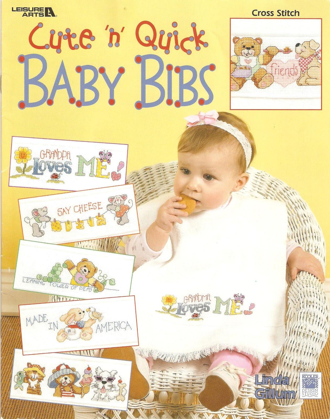 Leisure Arts #3447 Cute n Quick Baby Bibs