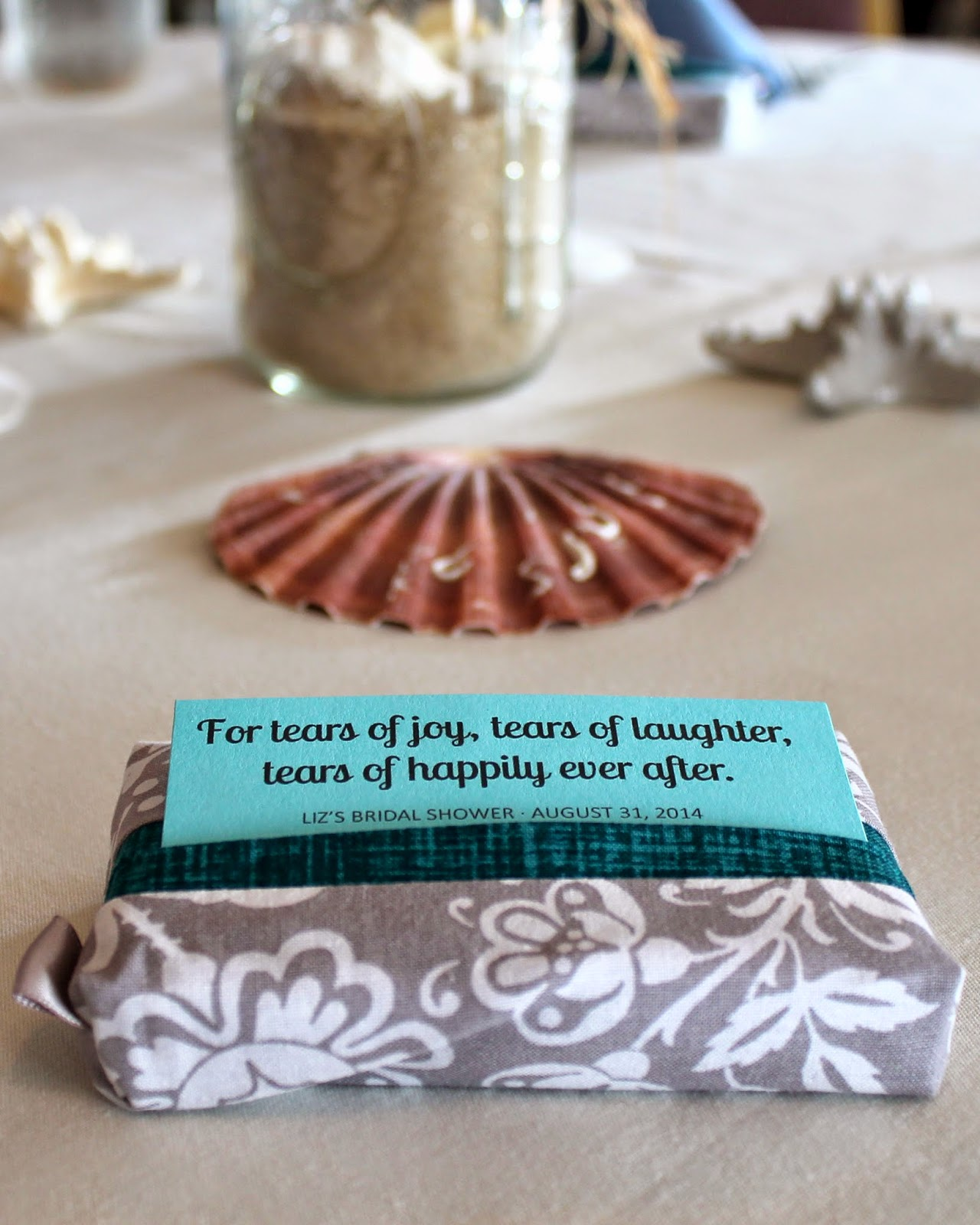 Sew this pocket tissue pack cover as a favor for a bridal shower or a wedding! | The Inspired Wren