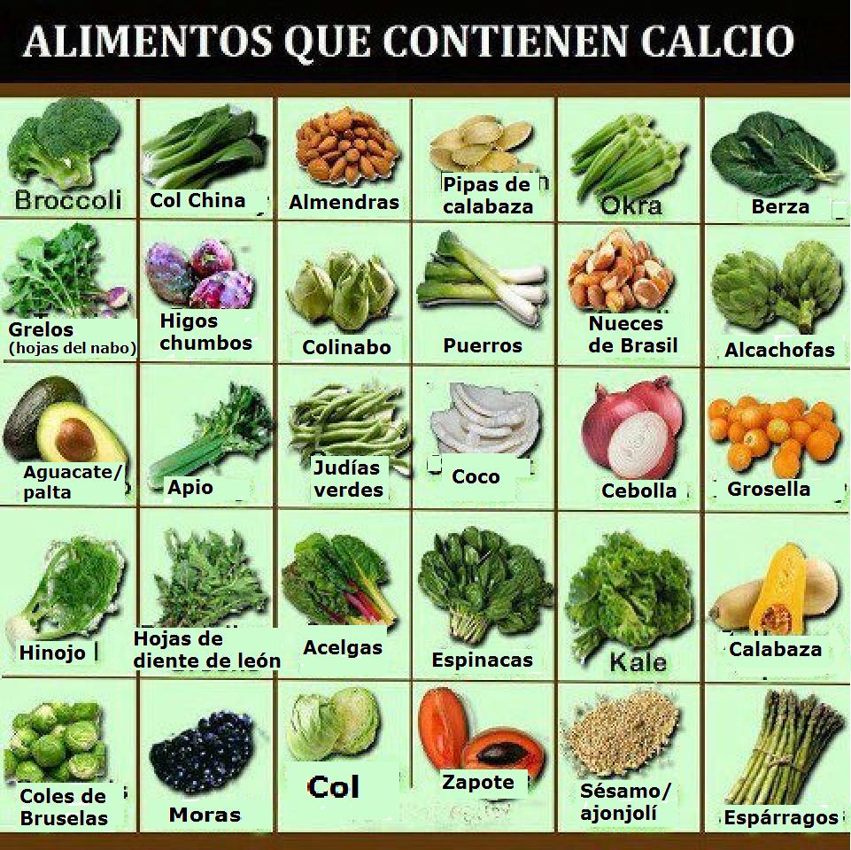 Salud con sentidos los beneficios de tomar el calcio de origen vegetal - Alimentos naturales ricos en calcio ...