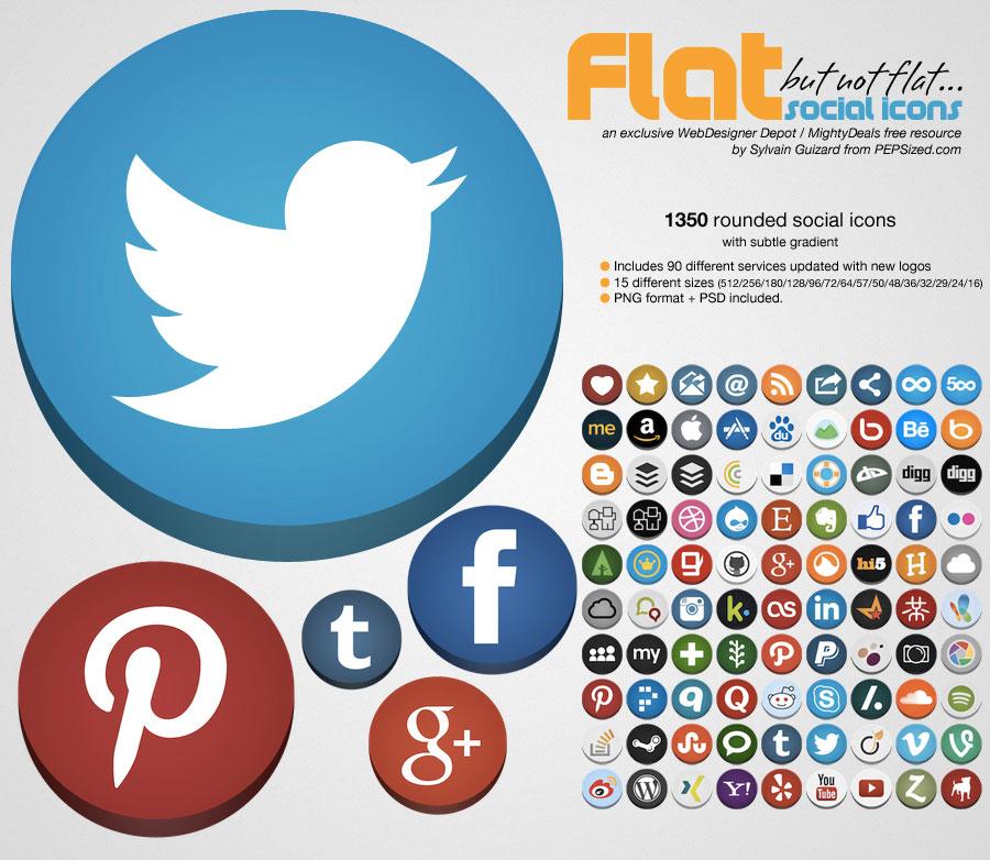 flat not flat 10 Amazing Free Download Flat Icons PSD