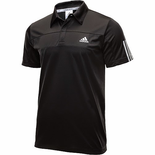 Sports authority coupon 25%: Adidas Men's Galaxy Short-Sleeve Tennis Polo Shirt