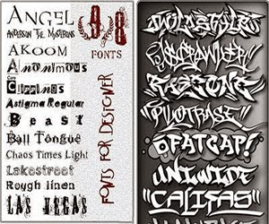 157 Graffiti and Distorted Fonts