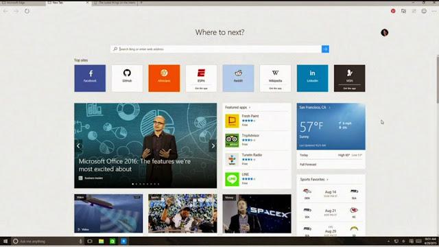 Fitur Windows 10: Microsoft Edge