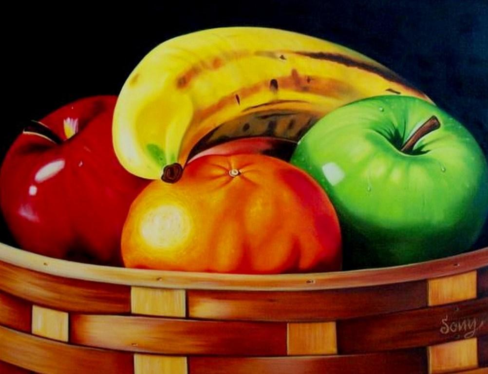 Frutas Bones Al Oleo Sobre Lienzo Arte En Bones Pintura Frutas