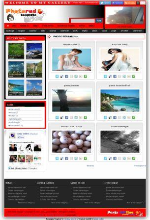 PhotoRed Blogger Template download