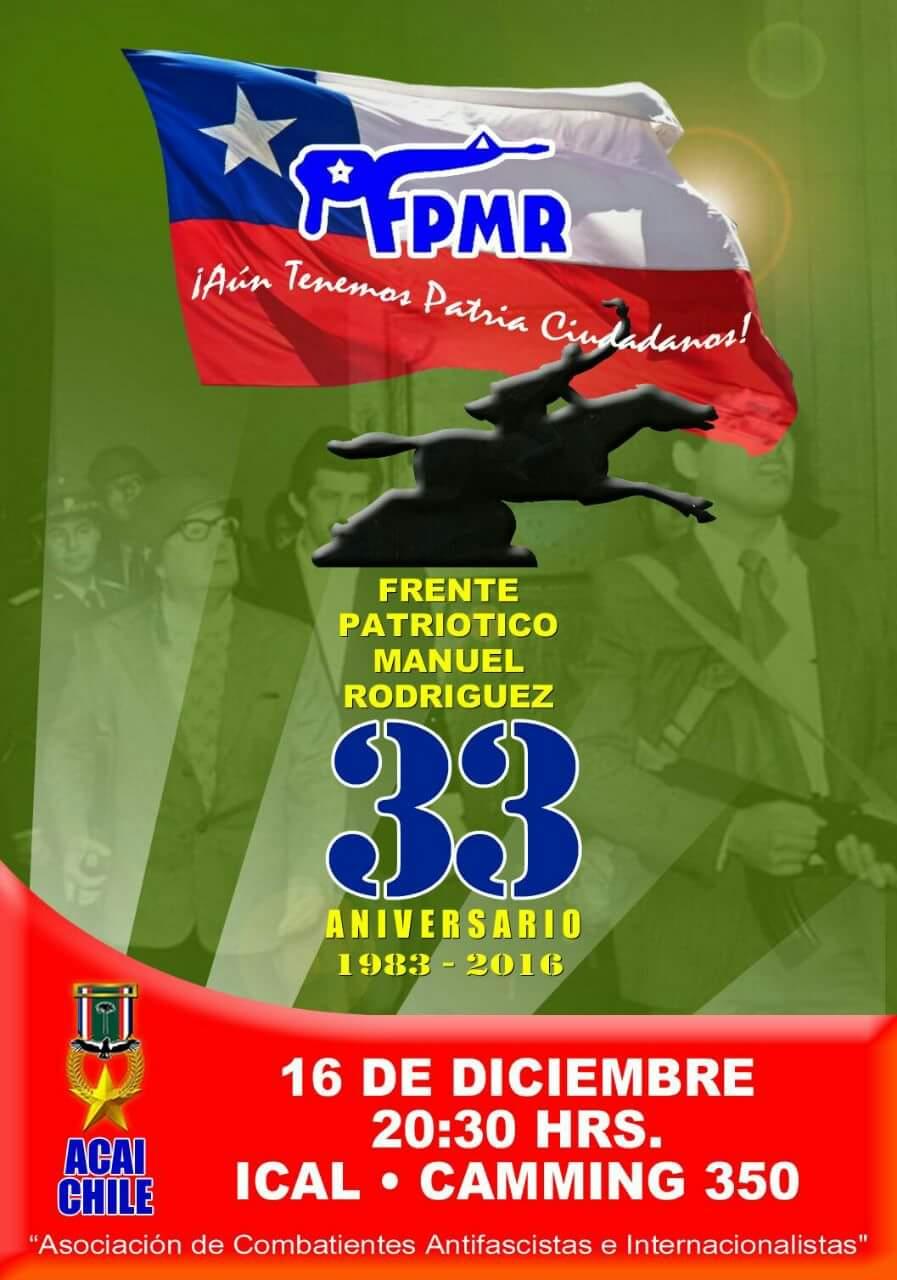 FRENTE PATRIOTICO MANUEL RODRIGUEZ 33 ANIVERSARIO 1983 - 2016