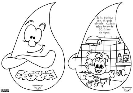 Untitle: dibujos para colorear sobre el agua