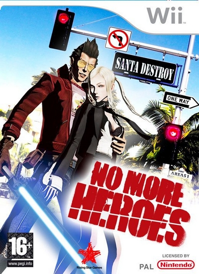 No More Heroes Wii Box Art