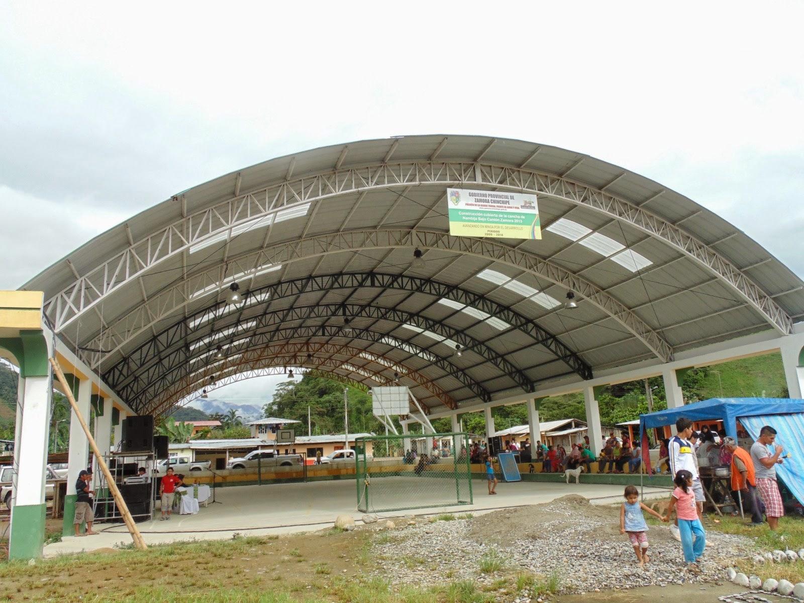 Zamora chinchipe nambija bajo cuenta con cubierta - Estructura metalica cubierta ...