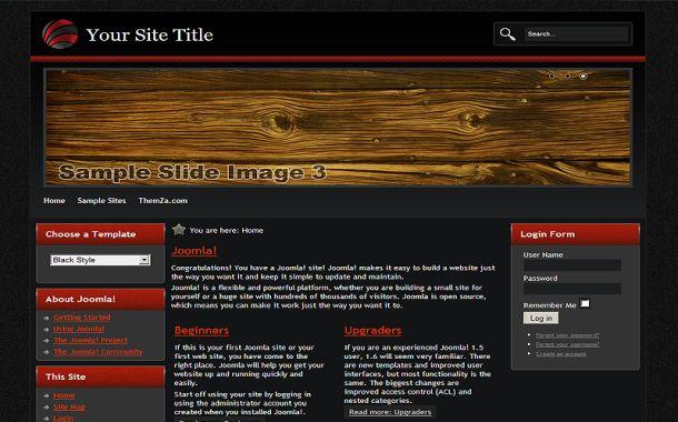 Wood Joomla Templates Free Red Black Abstract Wood Joomla Template