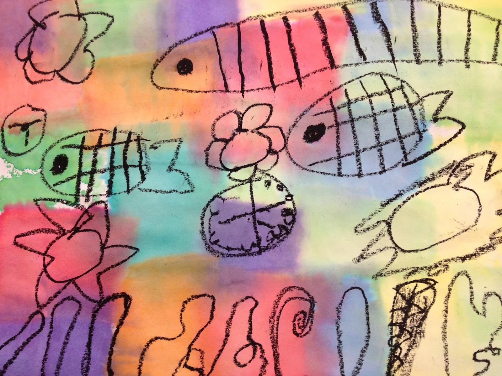 underwater fantasy inspired by paul klee � teachkidsart
